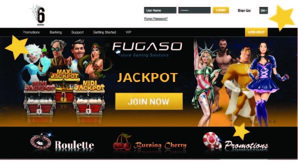 6 black casino